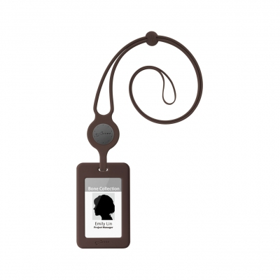 Lanyard Badge Holder - Brown