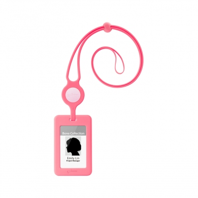 Lanyard Badge Holder - Pink