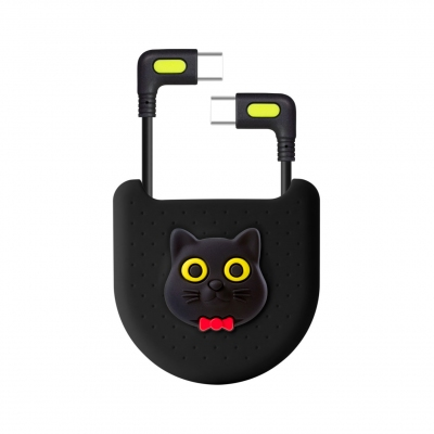 L-Shaped Bag Kit (USB-C / USB-C) - Miao Cat